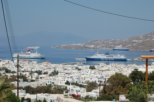 MYKONOS OLD PORT AND NEW